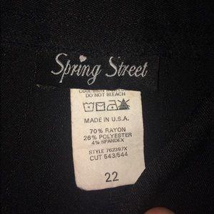 Spring Street Black Tailored capris size 22